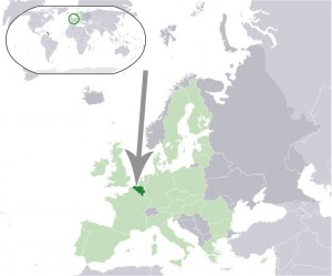 Where in the world is Belgium? See the map. Dark green is Belgium, light green - EU.