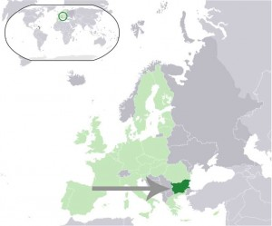 Where in the world is Bulgaria? See the map. Dark green - Bulgaria, light green