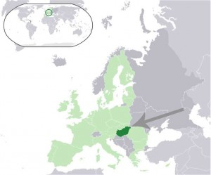 Where in the world is Hungary? See the map. Dark green - Hungary, light green - EU.