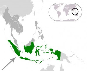 Where in the world is Indonesia? See the map.