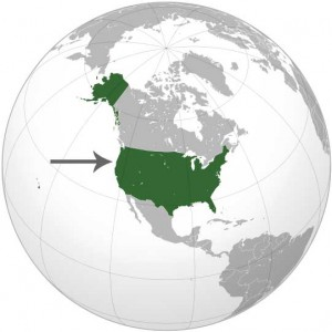 Where in the world is USA? See the map.